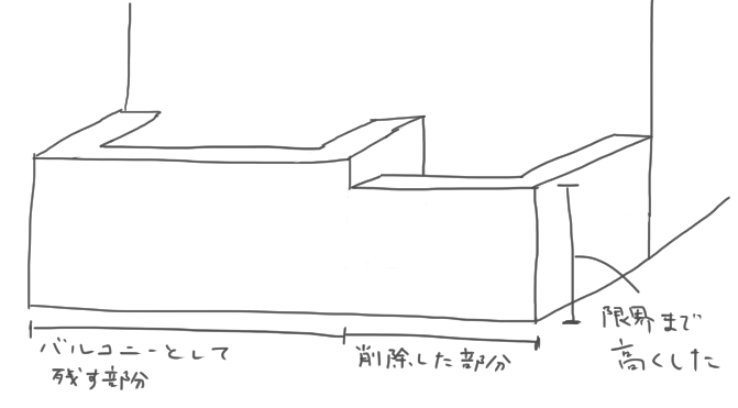 バルコニー案3