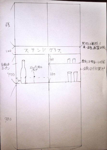 バックバー棚の設計