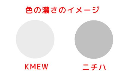 サイディングの色の濃さの比較
