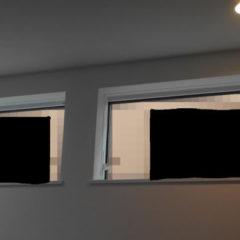 お隣さんちの窓の位置
